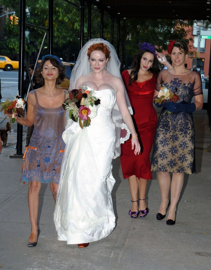 Best tits of Hollywood Christina Hendricks getting married (10 pics)