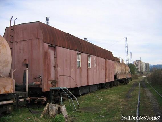 Abandoned Soviet train station in Abkhazia