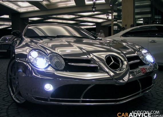 White Gold Mercedes (3 pics)
