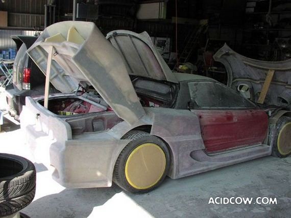 Ferrari F50 Made Out Of Old Acura (114 pics)
