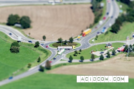Miniature world with the help of photoshop