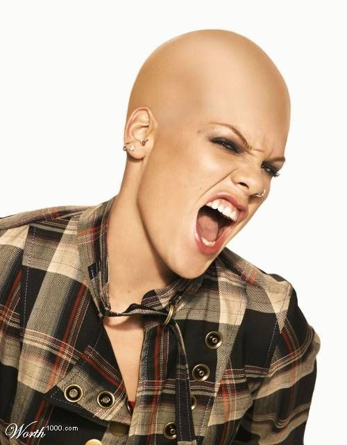 Bald celebrities (28 pics)