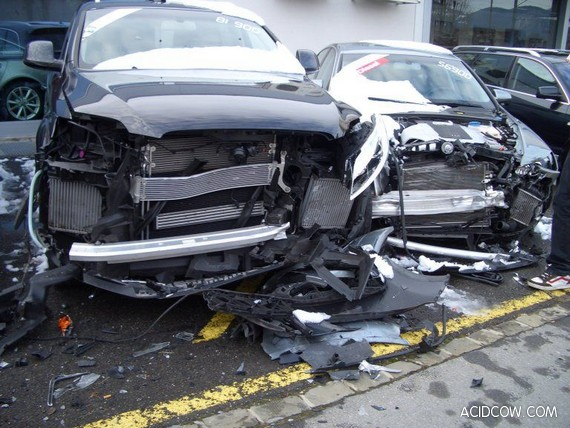 5 Audi Cars Crashed in Switzerland (5 pics)
