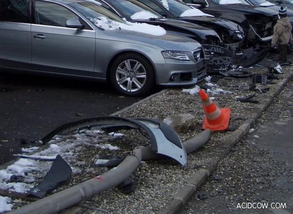 5 Audi Cars Crashed in Switzerland (5 pics)