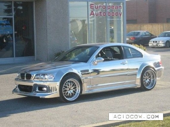Chromeplated BMW (19 pics)