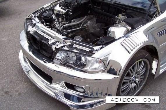 Chromeplated BMW (19 pics)
