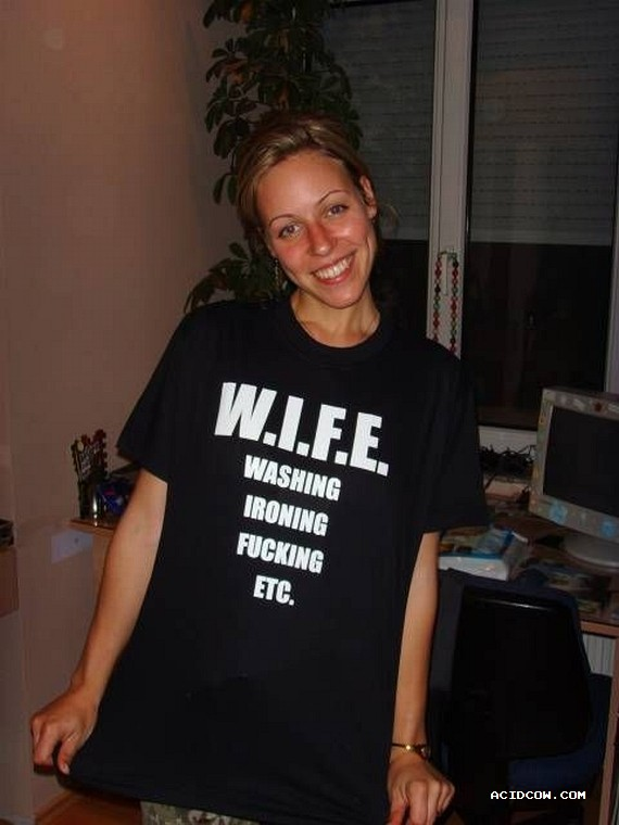 That's why we need a wife ;))