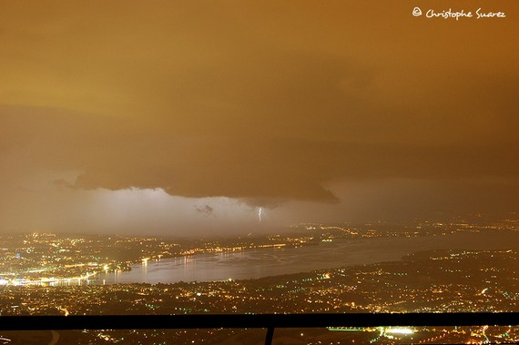 Thunderstorm above Geneva of 20th June 2007 (7 photos)