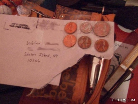 Coins Instead of Mail Stamps (5 pics)