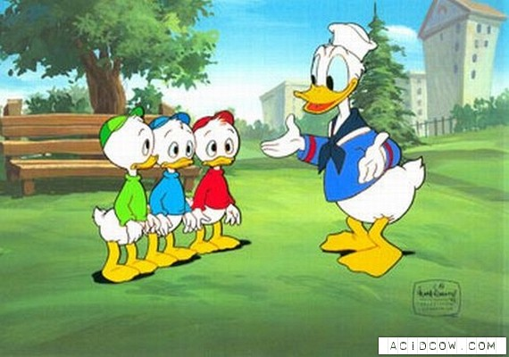 """""""Duck Tales"""" сartoon heroes in ages..."""