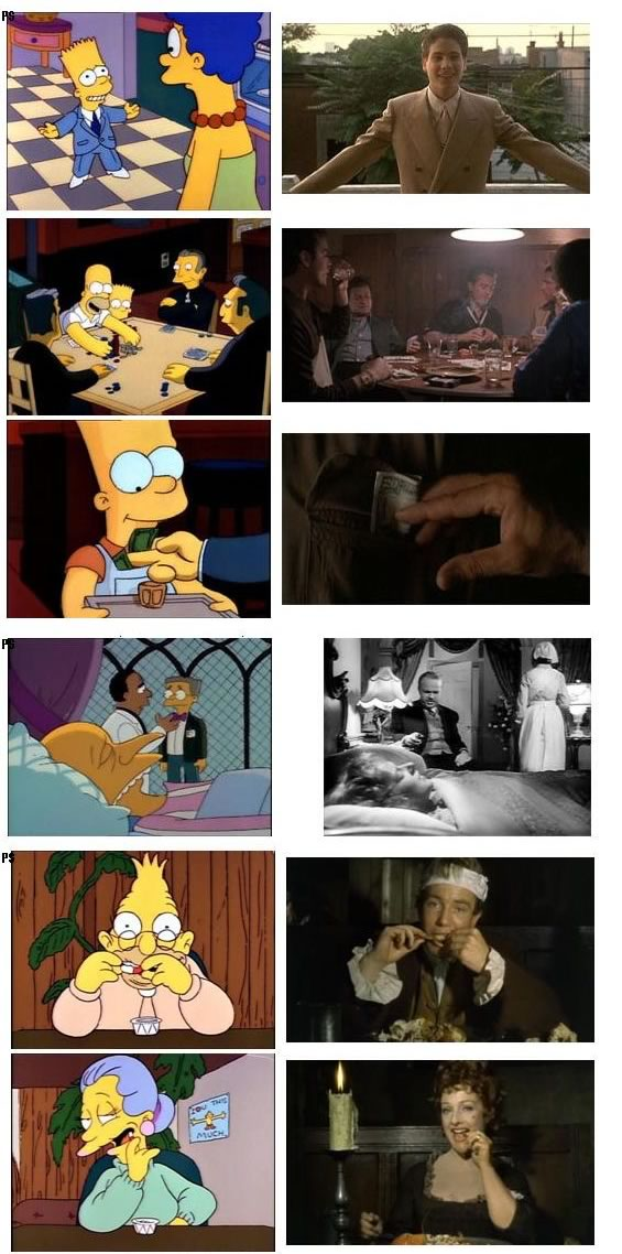 Simpsons Scenes and their Reference Movies