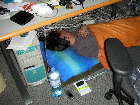 Sleeping at work (14 pics)