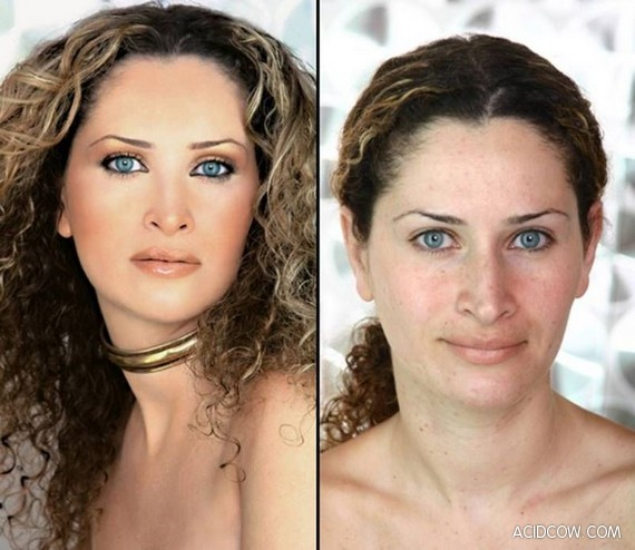 Girls Before and After Make-up (10 pics)