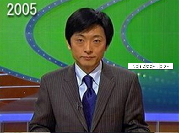Fast Aging Japanese News Presenter (6 pics)