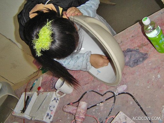Production of Toilet Bowls in China (47 pics)