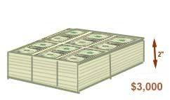 How does look 315 billion dollars in one dollar bills?