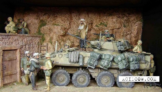 Dioramas and toy soldiers (36 pics)
