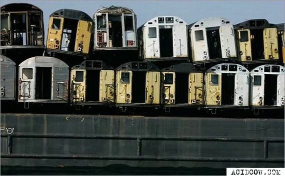 Recycling of wagons of the New York subway
