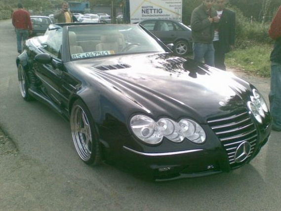Cool tuning of a Mercedes (5 pics)