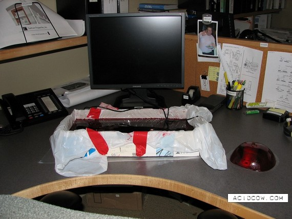 Pranked co-worker (19 pics)
