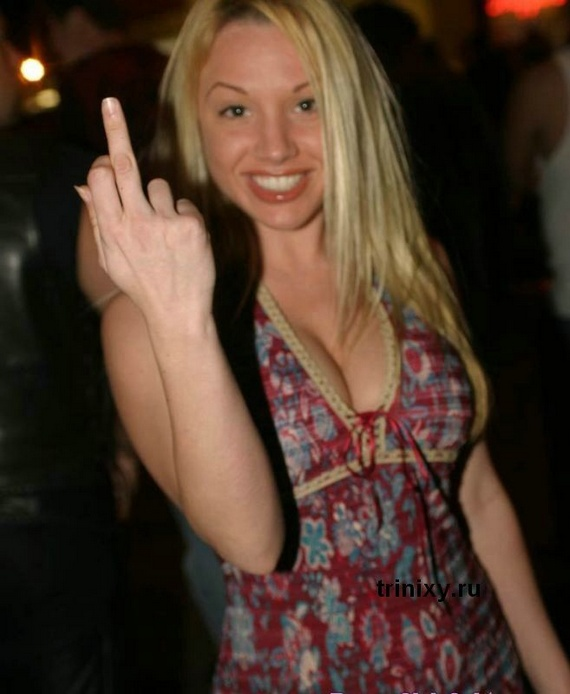 Girls Show Finger (47 pics)