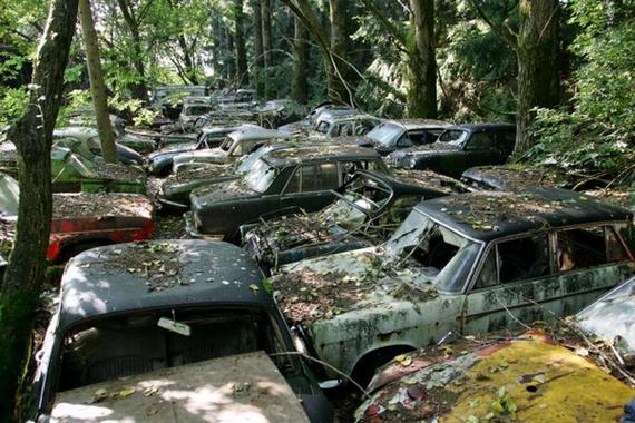 Autofriedhof Gürbetal (34 pics)