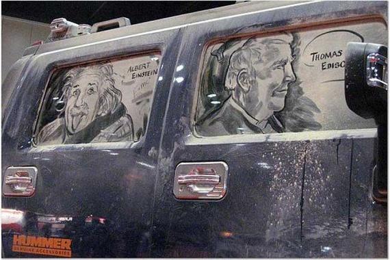 Amazing dirty car art by Scott Wade (32 pics)