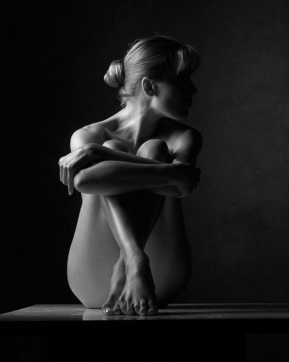 черно белое фото арт ню