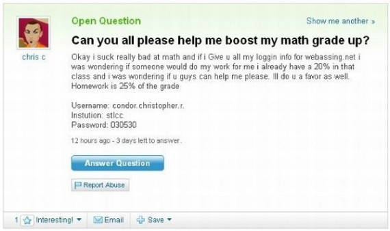 The Best of Yahoo Answers! (35 pics)