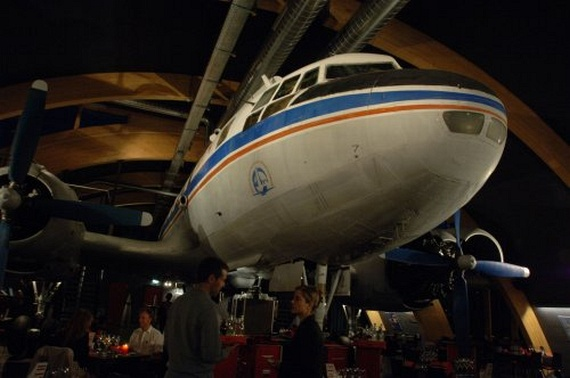 Restaurant near the Zurich Airport with a IL-14...