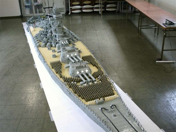21-Foot Battleship Yamato Model (29 pics)