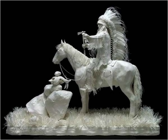 Cast Paper Sculptures by Allen Eckman (61 pics)