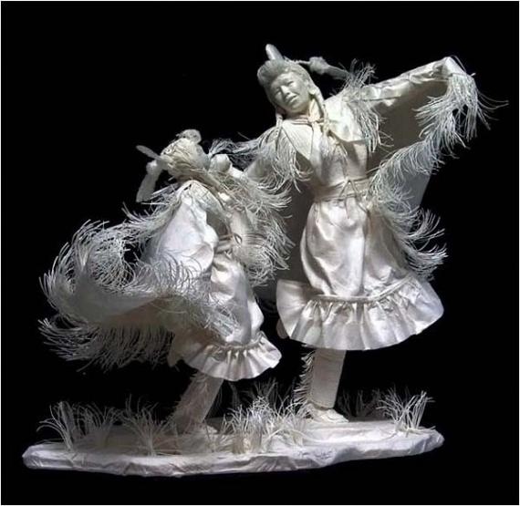 Cast Paper Sculptures by Allen Eckman (61 pics)