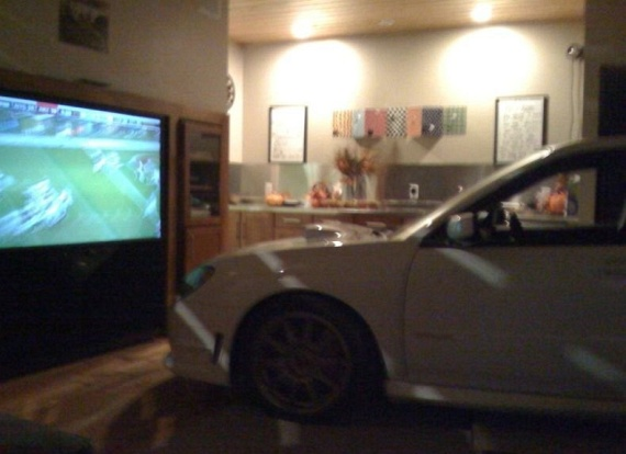 STI parked in a living room (6 pics)