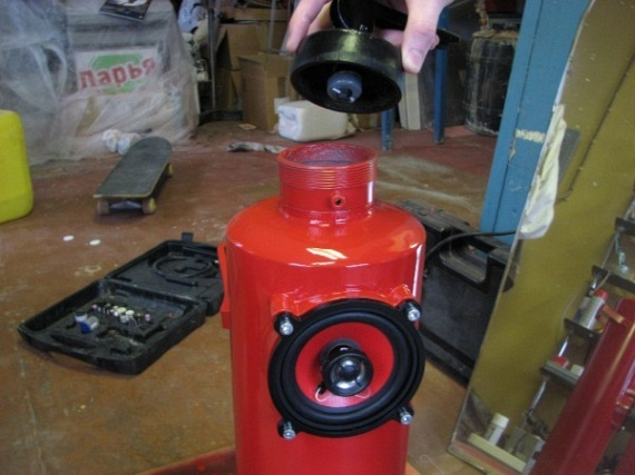 Excellent Russian Fire Extinguisher Speaker Mod