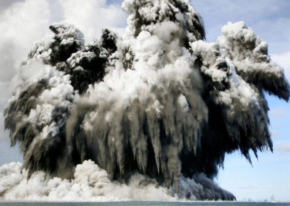 Undersea eruptions near Tonga (11 pics)