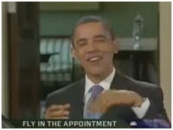 Obama kills a fly during an interview (2.1 Mb)
