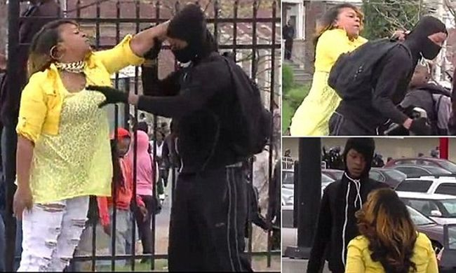 Mom Of The Year Beats Son On TV For Trying To Riot