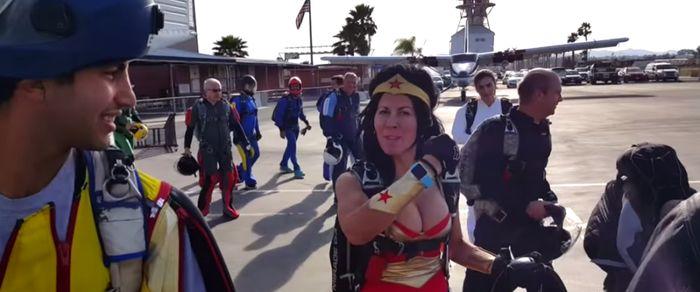 Wingsuit Rodeo w/ Wonder Woman…