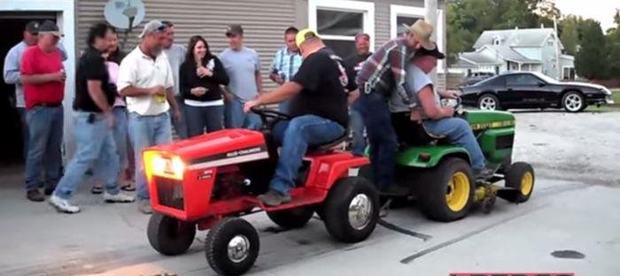Lawn Mower Tug Of War