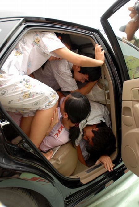 How many people can fit in a car  (5 pics)