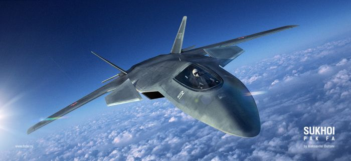 Sukhoi Pak Fa - the first Russian stealth superfighter (8 pics)