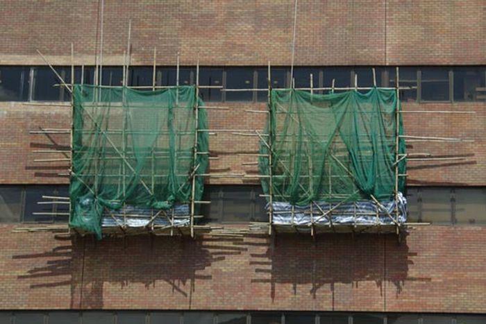 Bamboo scaffolding in Hong Kong (45 pics)