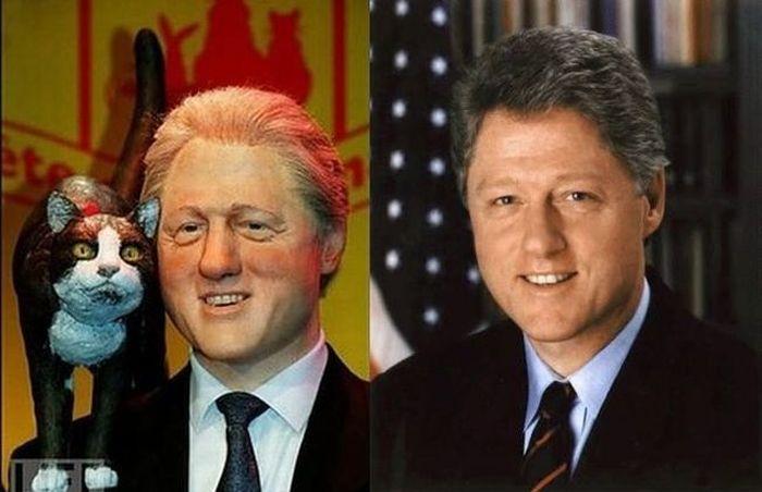 The worst wax figures of celebrities (27 pics)