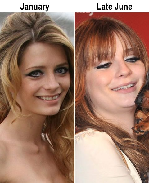 Mischa Barton's hobby - gaining and losing weight over and over again (10 pics)
