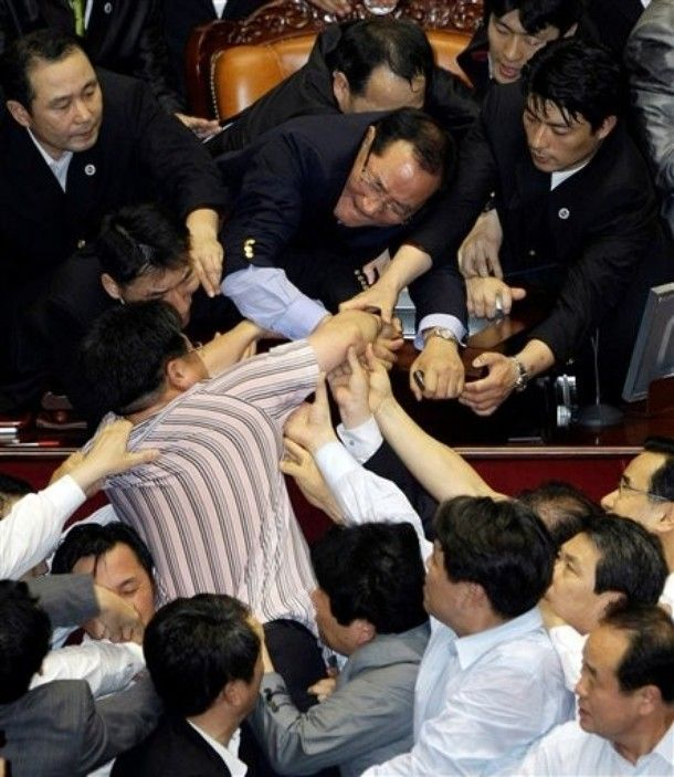 Fight in South Korea's parliament (20 pics + video)