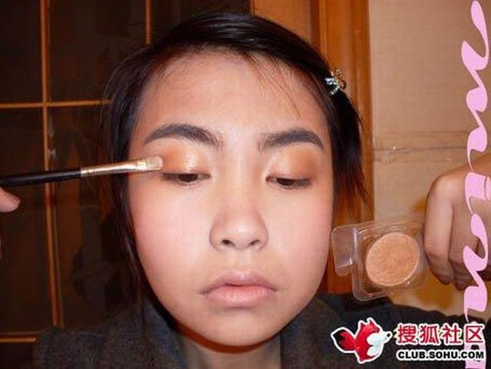 Before and after makeup girl (22 pics)