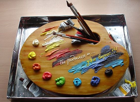 Artist Palette Cake Ideas : Awesome cakes (57 pics)