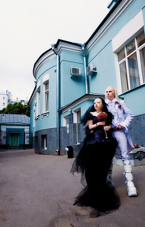 Goth Wedding in Russia (33 pics)
