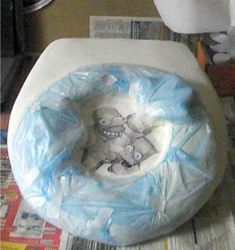 Toilet Seat Cover for Simpsons Fans  (22 pics)